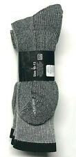 3 Pairs  Men Gray Merino Wool Cushioned Bottom Work / Boot Sock Size10-13.USA.