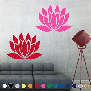 Lotus Flower Yoga Decal Sticker Symbol Buddhism Wall Door Room House Decor V2