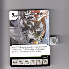 DICE MASTERS DEADPOOL UNCOMMON #78 TASKMASTER WATCH AND LEARN CARD & DICE