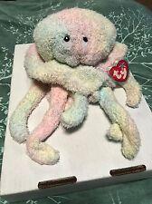 Ty Goochy Pastel Tie-Dyed Nappy Fabric Jellyfish Beanie Buddy! *Retired*