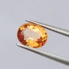 2.85ct spessartine garnet natural gemstones orange color oval cut GLC certify
