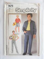 Simplicity pattern 7675 Boys Pants Shorts Shirt & Jacket Size 10 UNCUT