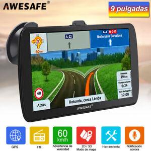 """AWESAFE 9"""" Camion GPS Navegador portátiles SAT NAV con 8G gratis Mapa de Europa"""