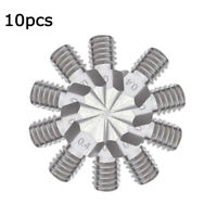 10x 0.4mm Sliver Stainless Steel Nozzle Thread For 1.75mm 3D Printer M6 MK8