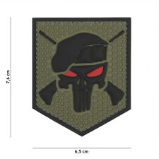 PVC Commando Punisher Patch Klett Abzeichen Airsoft Paintball Softair