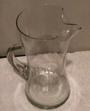52 Oz Glass Pitcher W/ J E E Etched On Front