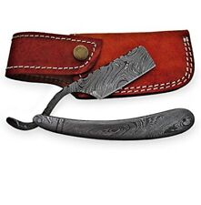 Barber/Saloon Hand Made Full Tang Damascus Steel Blade & Handle Straight Razor