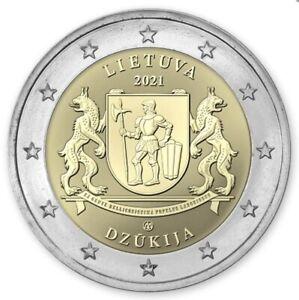Lithuania 2 euro coin 2021 Dzūkija UNC from bank roll