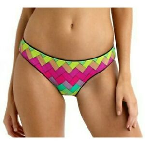NEW SEAFOLLY LIME PLEATED HIPSTER BIKINI PANT SIZE 16