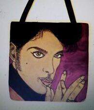 Prince Purple background awesome whimsical artist tote purse ART Bag 16 x 16 New