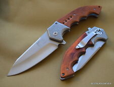 MTECH XTREME TWO TONE BROWN/STONEWASH TACTICAL SPRING ASSISTED KNIFE WITH CLIP
