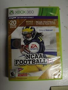 XBOX 360 NCAA Football 14 Walmart Variant All Paperwork Complete