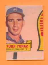 MISCUT PRODUCTION ERROR KOUFAX TATTOO STYLE 1966 TOPPS RUB-OFF SANDY MC ORNG ABC