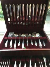85p. Pretty Floral Community Tudor Plate Queen Bess II Service for  c1946 Set #2