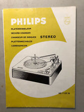 Philips AG 1125 W stereo record changer operating instructions manual