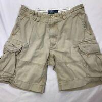 Polo Ralph Lauren Men's Sz 35 Chino Cotton Distressed Cargo Shorts