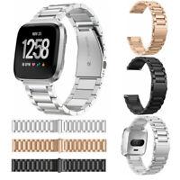 Metal Bracelet Watch Band Replacement Wrist Strap For Fitbit Versa / Lite Smart