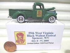 2009 ERTL RC2 55TH Spencer WV Black Walnut Festival 1938 Ford H/O PickUp NuBoxed