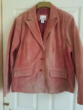 """EAST 5TH-Rose Rosa in Pelle Scamosciata Jacket-Preloved-SZ 1XL-Busto 50"""""""