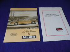Original BMC 1955 Wolseley Six Ninety Brochure Lot of 2 Brochures