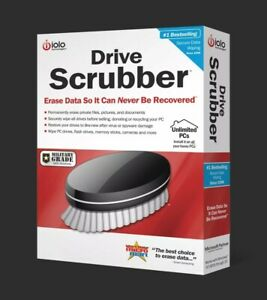 iolo Drive Scrubber | Data Eraser | Unlimited PCs 1 Yr | SEALED Retail Box