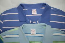 LOT of 2 BROOKS BROTHERS Men's XL Striped Cotton Polo Shirts