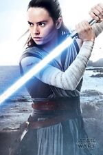 Star Wars Episode 8 The Last Jedi - Rey with lightsaber POSTER 61x91cm NEW Daisy
