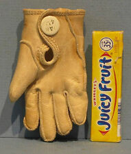 """SM 2 1/4"""" HI LEATHER GLOVE, WELL MADE OLD SAMPLE? DAN 4TH FREE SHIP & ON SALE"""