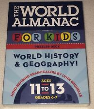 New The World Almanac For Kids Puzzler Deck World History Geography Ages 11-13