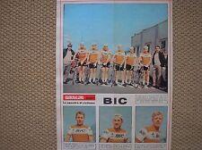 BIC ANQUETIL TEAM IL GIORNALINO 22 1967 SQUADRA CICLISMO CYCLISME CYCLING