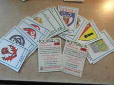 original FOOTBALL STICKERS PANINI FOOT 76 1976 FRANCE les ECUSSONS  Voir liste