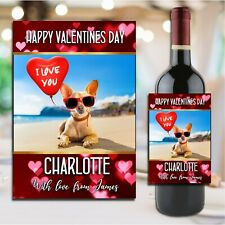 Personalised Valentines Day Wine Champagne Bottle Sticker Label N188 for him her