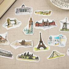42xTravel Around World Famous Building Craft Scrapbook Decorative_Stickers well