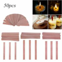 50pcs/bag Wood Wicks for Candles Soy Palm Wax Candle DIY Making Supplies Tools