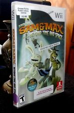 Sam & Max Beyond Time and Space Wii Game, Case, Book Rated Teen