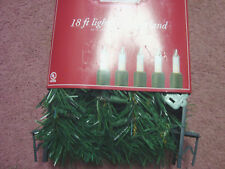 Trim A Home . Garland.18ft Lighted Garland.Clear
