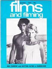FILMS AND FILMING November 1979 - Otto Preminger & John Frankenheimer interviews
