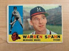 1960 Warren Spahn Topps Baseball Card #445 (Original)