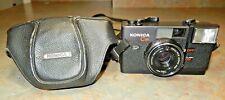 Konica C35 35mm Film Rangefinder Camera w/38mm f2.8 Lens + Leather Case