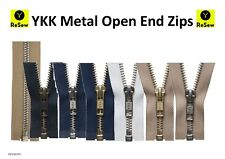 YKK Metal Open End Zip // 27 different colours and sizes - GREAT VALUE