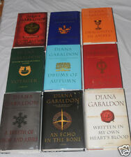 NEW Signed Diana Gabaldon Autographed 9 Hardcovers Outlander series 20th anniv.