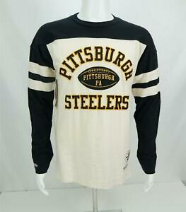 NWT Mitchell & Ness Men's Swing Pass Pittsburg Steelers L/S T-Shirt Medium