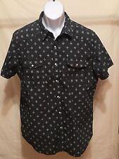 Men's J.Ferrar brand, sizeXL slimfit,shortsleeve, blue button up shirt, RN#93677