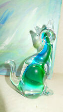 Murano glass cat. Made in Italy.
