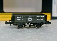 Graham Farish 377-059 N Scale 5 Plank Wagon Salt Union C-9 New In Box