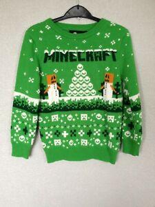 Minecraft boys christmas jumper age 7-8