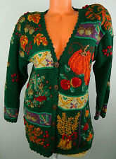 Signatures Northern Isles Hand Knitted Sweater Fall Autumn Pumpkins Small    n