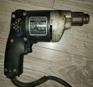 "Black and Decker Extra Heavy Duty 13513 - 1/4"" HOLGUN DRILL Vintage Power Tool"