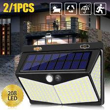New listing Waterproof 208 Led Solar Lamp Outdoor Garden Yard Pir Motion Sensor Wall Light