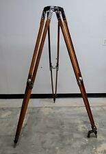 "Antique Auricon Wooden Cine Movie Sound-On-Film Camera Tripod - 62"" Tall"